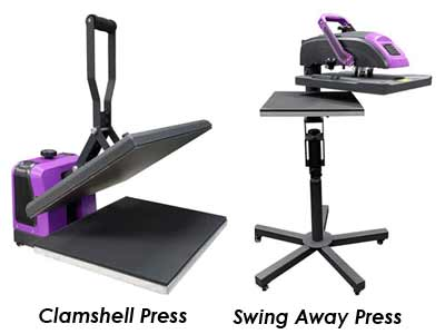 Clamshell vs a Swing Away Heat Press Machine