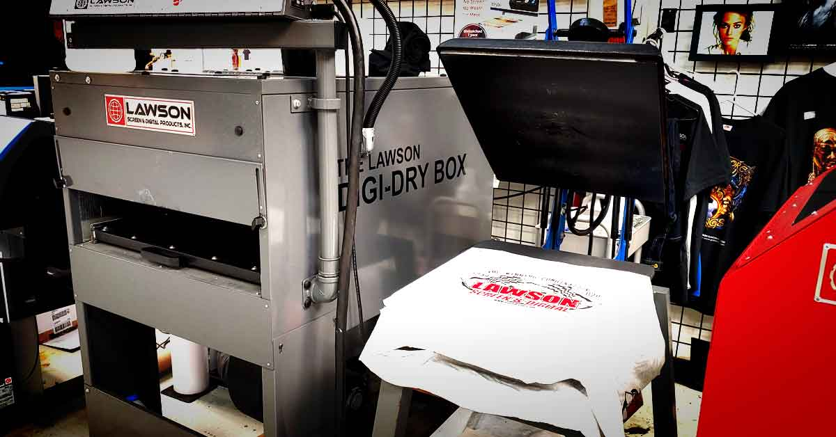 Curing DTG ink with a conveyor dryer vs heat press