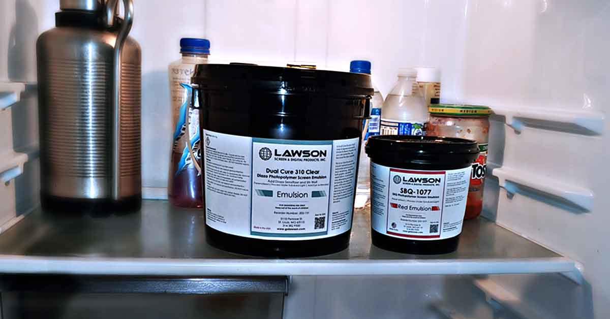 Screen Printing  Storage Emulsion