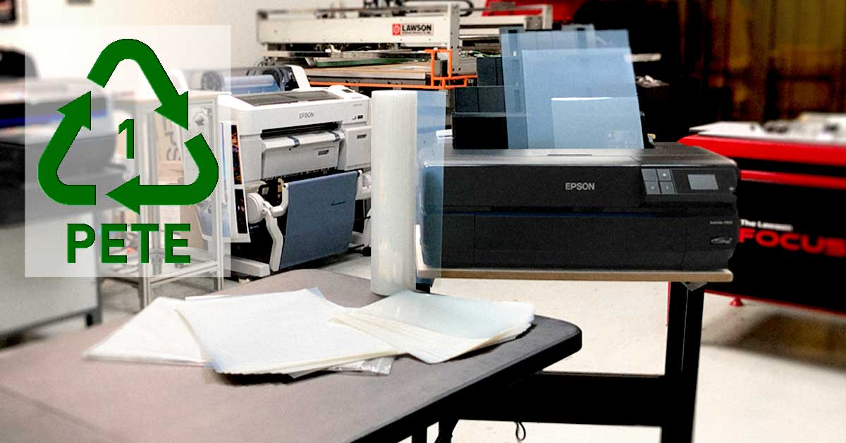 Environmentally Friendly Screen Printing - Recylcing Film positive sheets