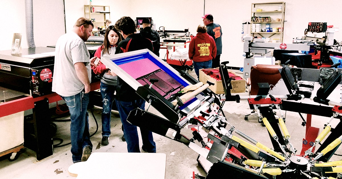 Screen Printing machine line up