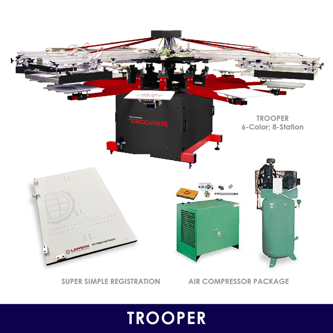 Trooper Screen Printing Start Up Kit - Textile Equipment