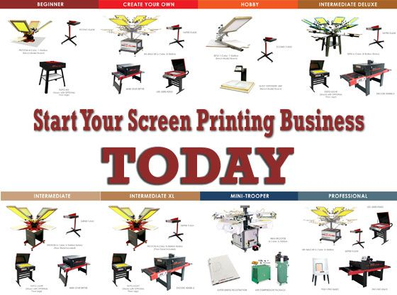 Start Screen Printing Today