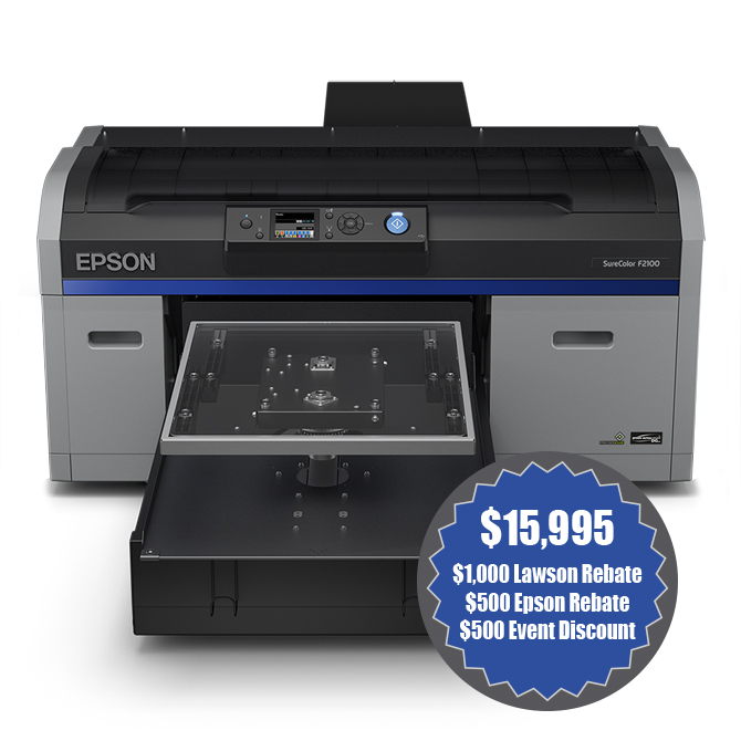 Epson SureColor F2100 - Direct to garment printer
