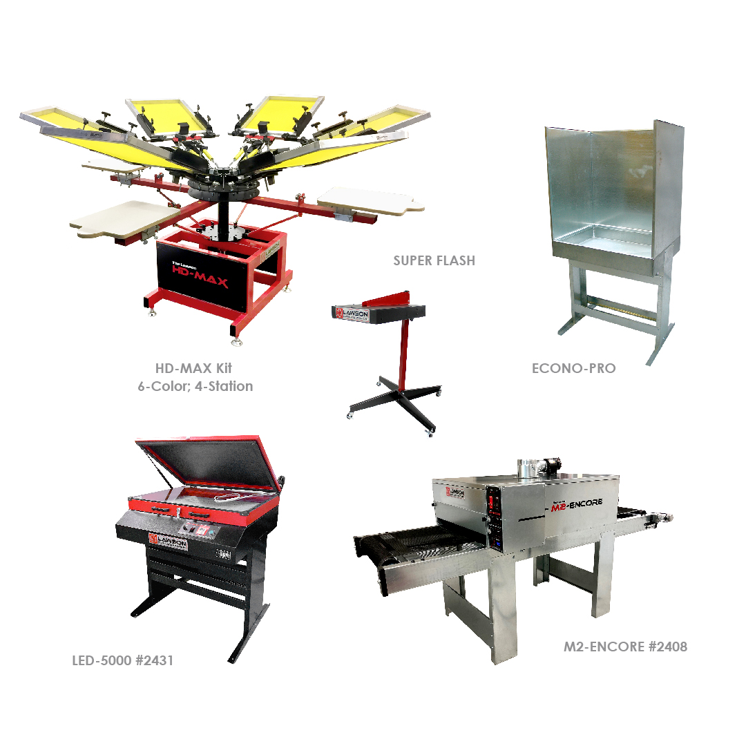 Advanced Screen Printing Equipment Startup Packages