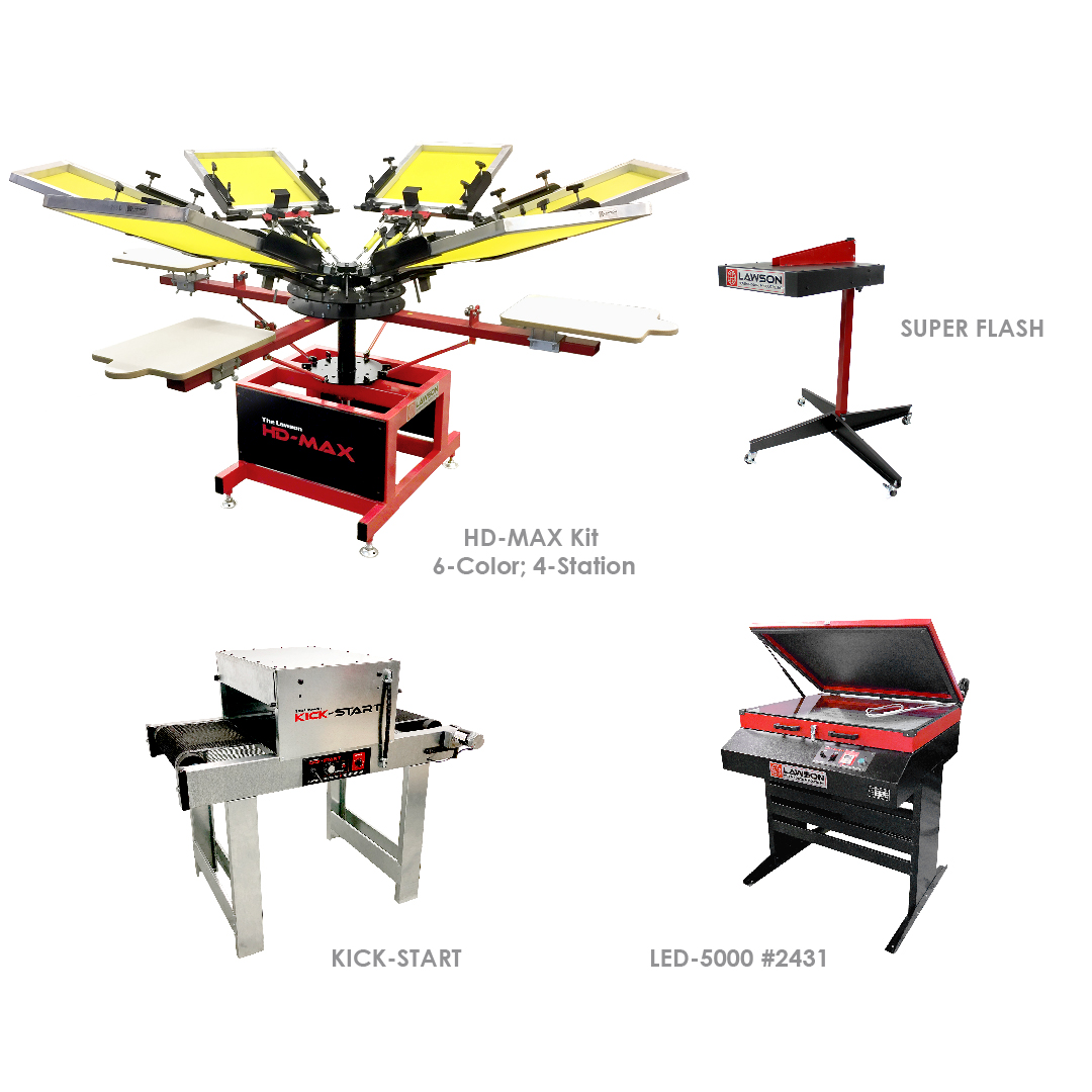 Create Your Own Screen Printing Equipment Startup Packages