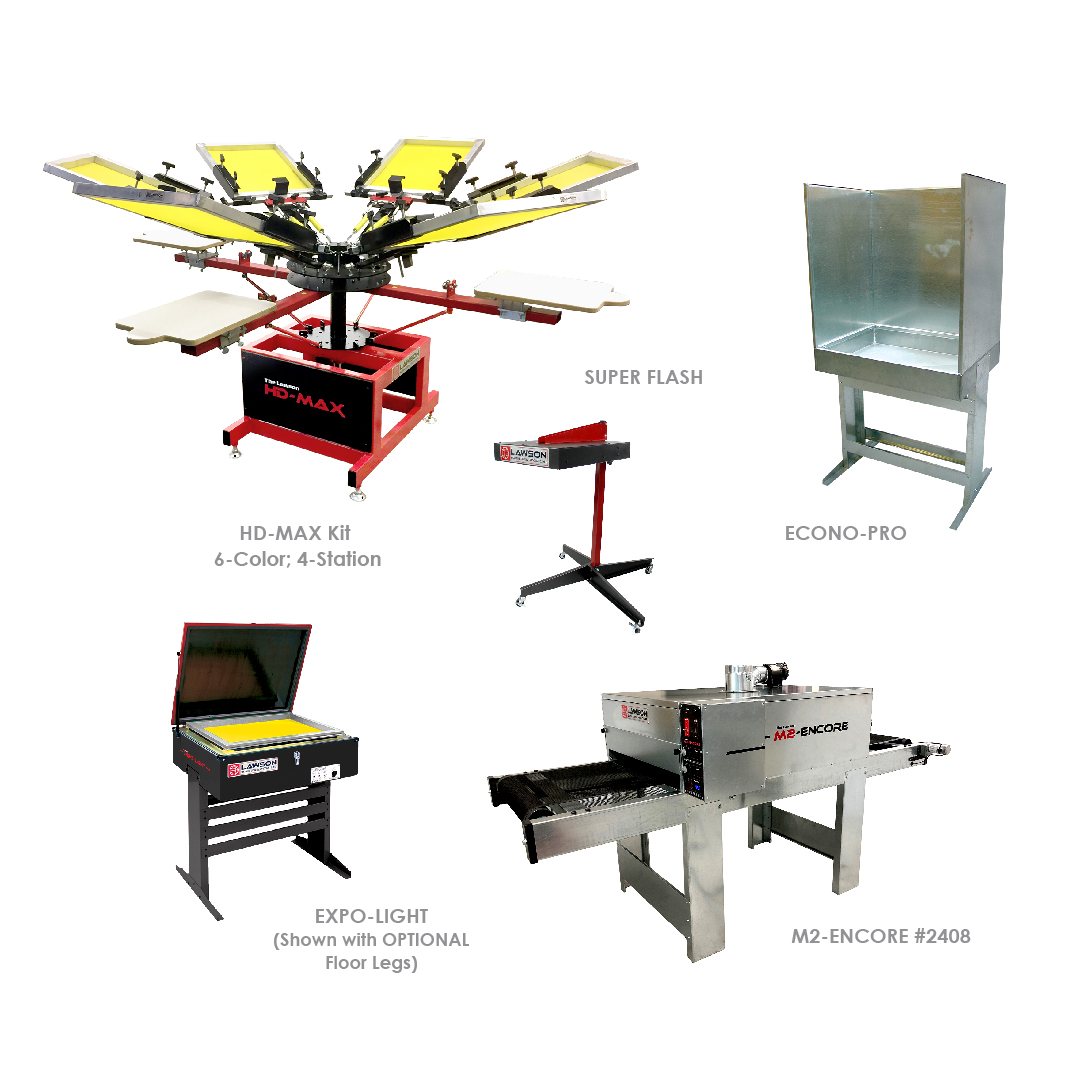 Intermediate Screen Printing Equipment Startup Packages