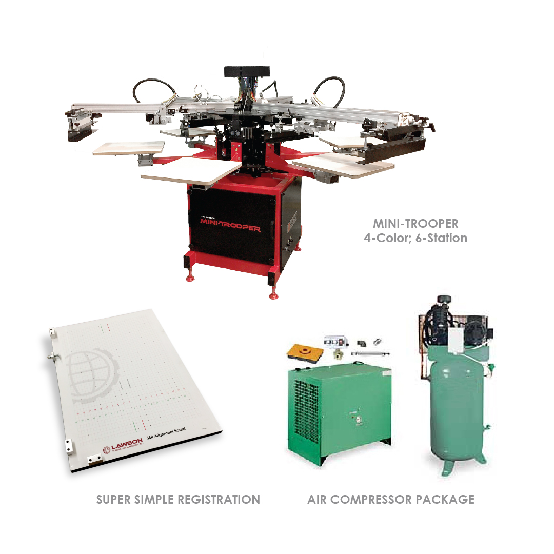 Mini-trooper Screen Printing Equipment Startup Packages