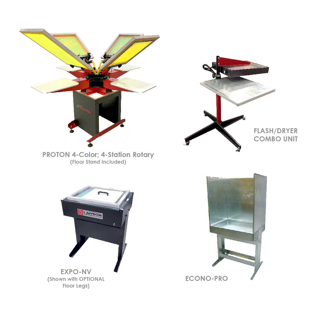 Proton Screen Printing Equipment Startup Packages