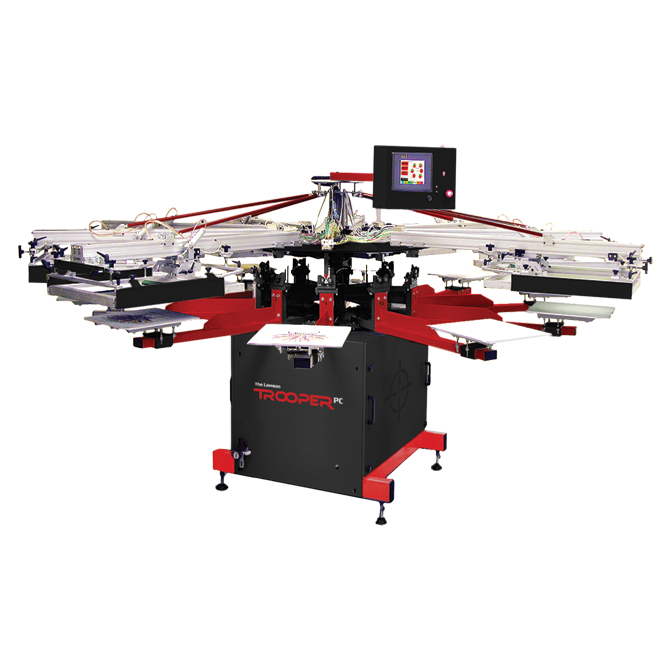 Trooper-PC Automatic Screen Printing Press - Textile Screen Printing Machine
