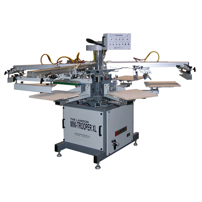 Mini-Trooper Automatic Screen Printing Press - Textile Screen Printing Machine