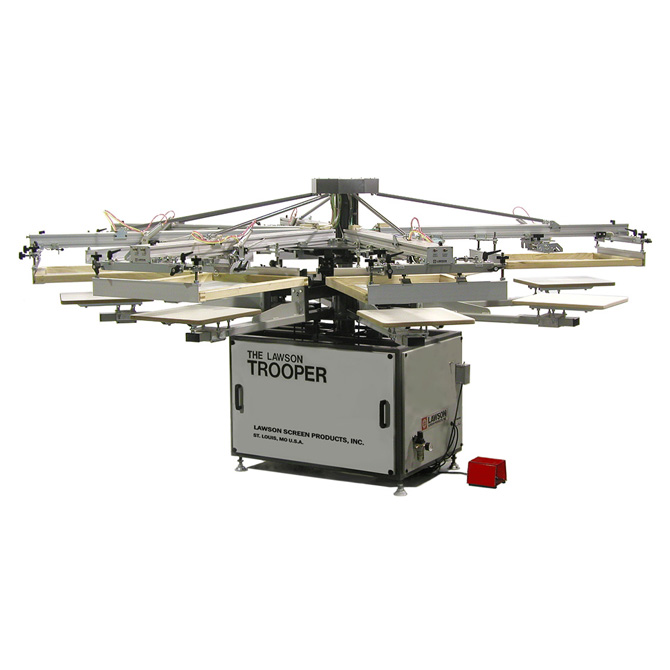 Trooper Automatic T-Shirt Screen Printing Press - Textile Screen Printing Machine