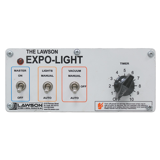 Expo-Light Exposure Unit Control Panel