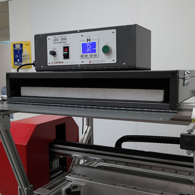 CTS Printer with LED-5000 Overhead - Control Panel Closeup