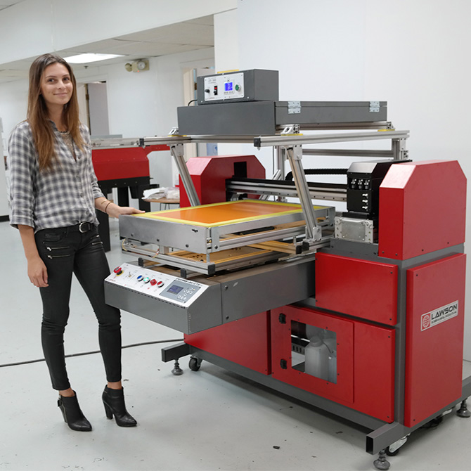 CTS Printer with LED-5000 Overhead - Glamour Shot with Model