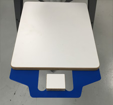 Tag Platen for screen printing: Step 1