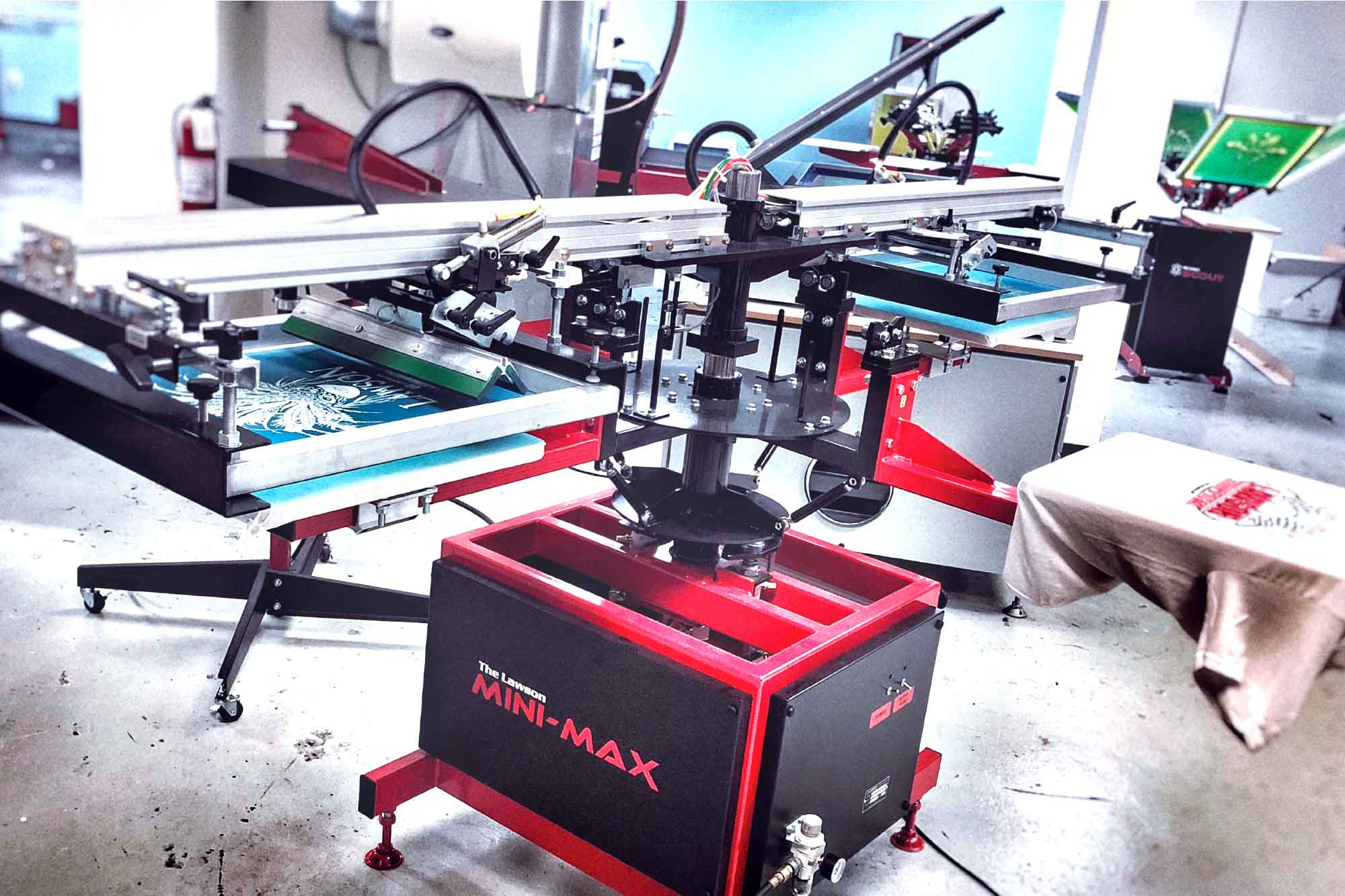 Mini-Max Automatic Screen Printing Press
