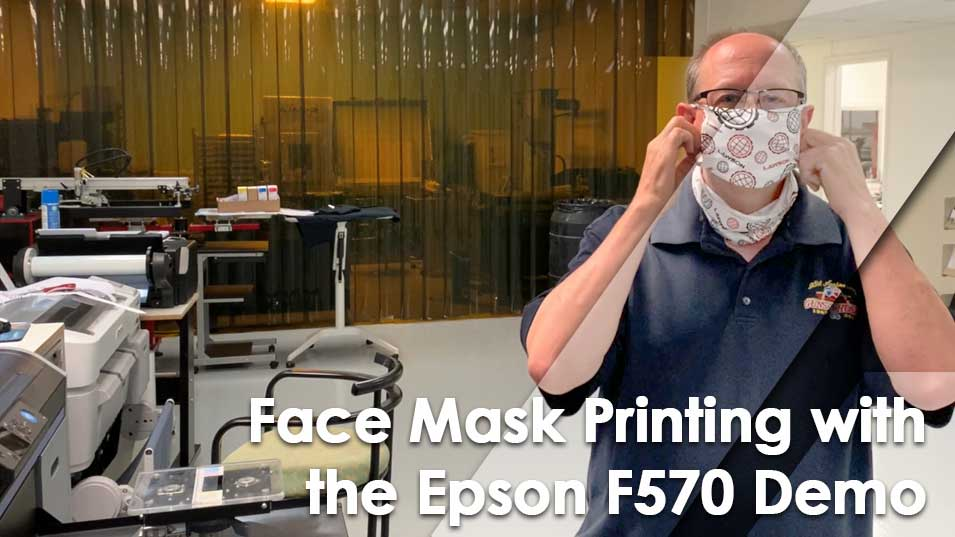 Customized Face Masks with an Epson F570 Printer