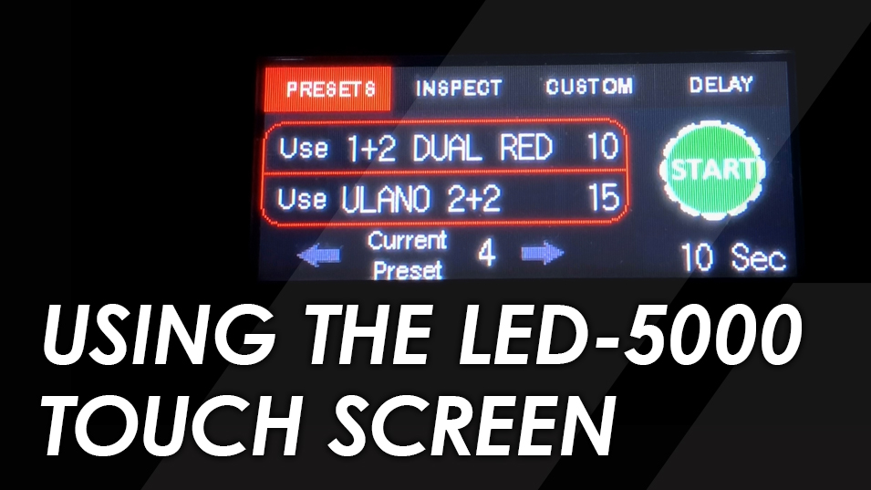 Using the LED 5000 Exposure Unit Color Touchscreen Demo