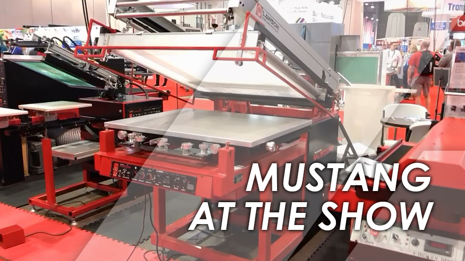 Mustang Textile Machine at SGIA 2018