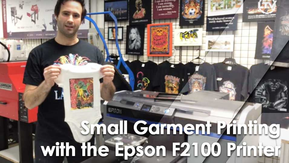 Epson SureColor F2100 DTG Extra Small Garment Platen
