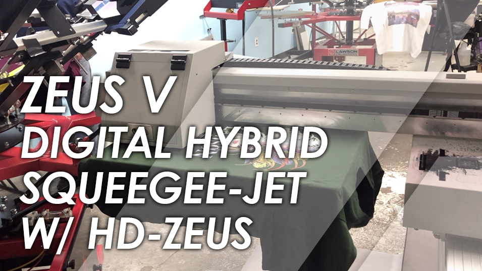 Zeus V Squeegee Jet T-Shirt Printer with HD-Zeus t-shirt press
