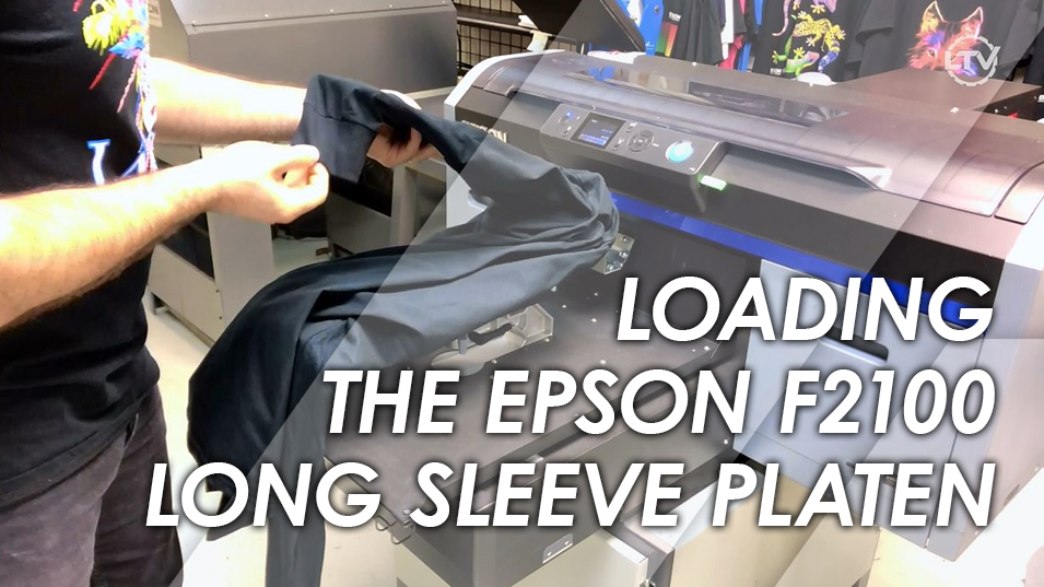 Loading a Lawson Epson F2100 DTG Printer Sleeve Platen