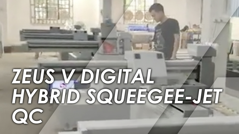 Zeus V Digital Hybrid Squeegee-Jet - Screen Printing Machine