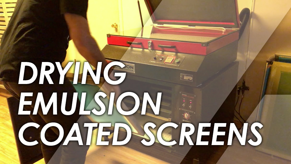 How to Dry Screen Printing Emulsion Coated Screens