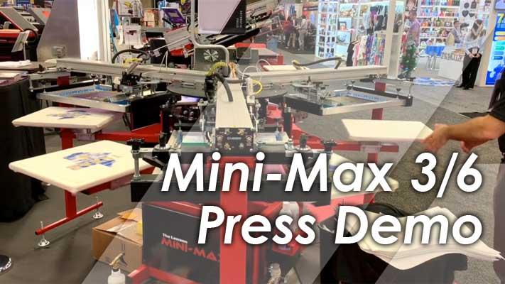 Mini-Max 3-Color 6-Station Automatic Press Demonstration
